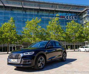 Audi Q5 Digisaurier Sendefahrzeug mit Assistenzsystemen