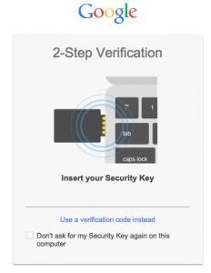 So schützt der YubiKey einen Google-Account (Foto: Google)
