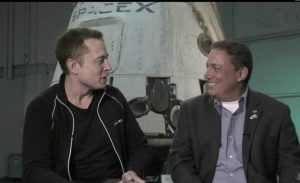 Kollegen: Peter Thiel und Elon Musk (Foto: Nasa.tv)