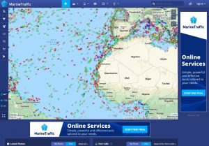 Der Verkehr auf dem Atlantik - MarineTraffic zeigt, welches Schiff gerade wo unterwegs ist
