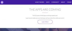 Die Community arbeitet an Solid-Apps