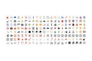 Die 176 Ur-Emojis, wie sie Teil der MoMa-Sammlung wurden