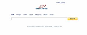 Als AltaVista versuchte, so schlicht wie Google zu wirken