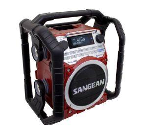 Auch so etwas gibt es: Baustellen-Radio mit DAB (Foto: Sangean)