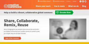 Die Creative-Commons-Plattform (Screenshot)