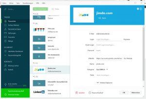 Dashlane erlaubt detaillierte Änderungen an jedem gespeicherten Login