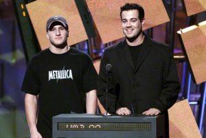 Shawn Fanning provoziert Metallica während der MTV MusicAwards 2000