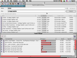 So sah Napster damals auf einem Mac aus