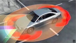 Selbstverständlich muss ein autonomes Fahrzeug mit seiner Sensorik auch ohne Mobilfunk sicher fahren können. Doch 5G wird zusätzliche, bessere Informationen liefern. (C) Audi