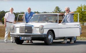 Diese Continental-Ingenieure entwickelten 1968 das erste selbstfahrende Auto: (von links nach rechts) Klaus Weber, Hans-Jürgen Meyer und Herbert Ulsamer.