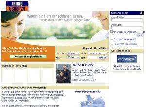 Die damals beliebteste Dating-Plattform: Friendscout24 (hier aus dem Jahr 2010)