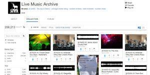 Das Live Music Archive mit der größten Sammlung Grateful-Dead-Aufnahmen