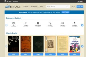 Der Zugang zur Open Library