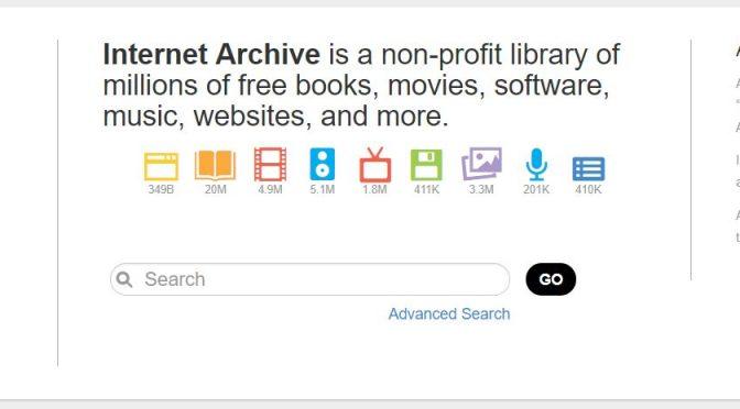 So sagt es die Startseite von archive.org