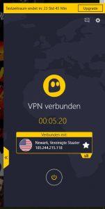 VPN-Steuerung mit Cyberghost
