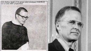 John Backus, der Fortran-Erfinder, 1950 und 1977 (Foto: Columbia University)