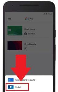 So wird PayPal als Zahlart in Google Pay eingerichtet (Abb.: Google)