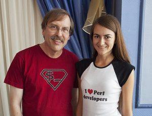 Larry Wall und seine Frau, die Perl-Entwickler liebt