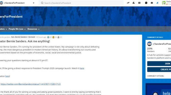 Ask me anything - mit Bernie auf Reddit diskutieren