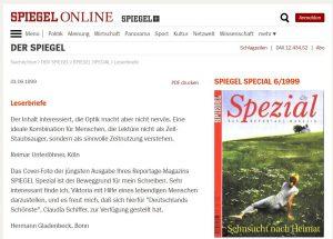 """Als Spiegel Online noch Leserbriefe """"abdruckte"""" (1999)"""