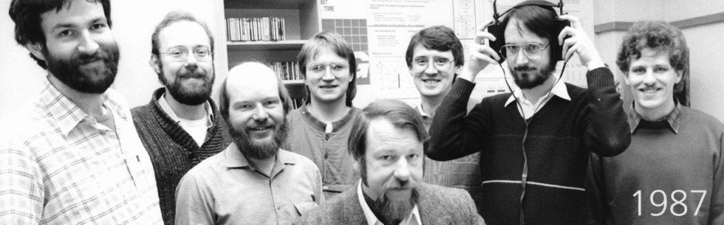 Das MP3-Team am IIS um 1987