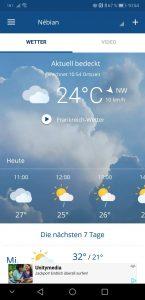 Die App von wetter.com - quasi der VW Golf unter den Wetter-Apps