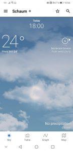 YR, die Wetter-App vom norwegischen TV - wunderschön!