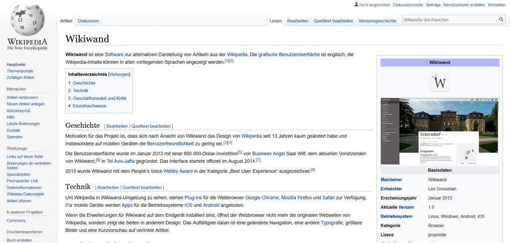 Die Wikipedia 2019 - immer noch ganz schön nerdig...