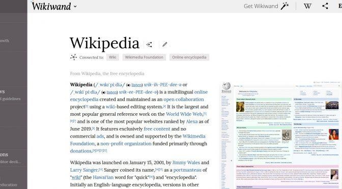 Was zur Hölle… ist denn die Wikiwand?