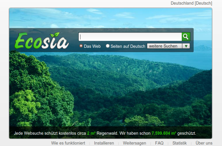 Ecosia - ökologisch wirksam, aber eben doch nur Bing