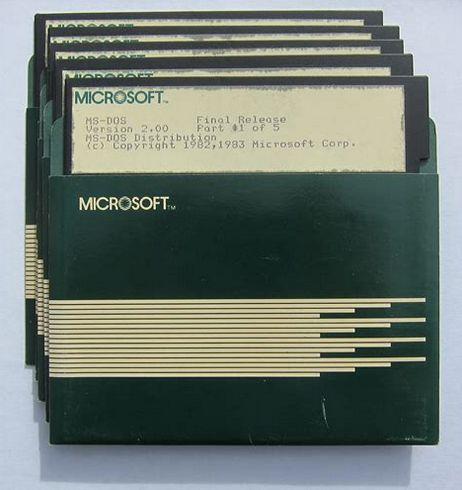 MS Word 2.0 - auf fünf Floppy Disks