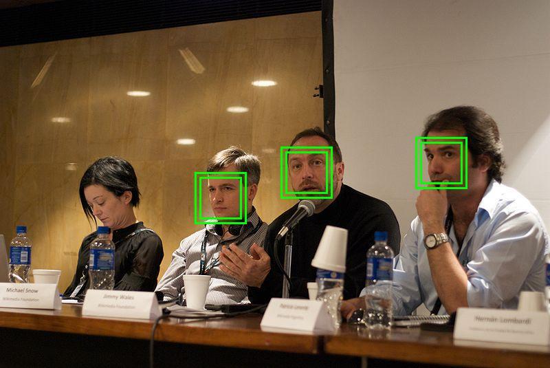 Möglichkeiten der automatischen Gesichtserkennung mit KI-Unterstützung (Foto via Wikimedia)