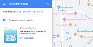 Standortfreigabe - Tracking in Google Maps freiwillig freischalten