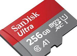 Und weiter: Eine 256-GB-MicroSD von 2020 für etwas mehr als 40 Euro
