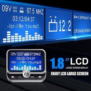 Gibt es auch: Bluetooth-FM-Transmitter mit mehrzölligem LCD