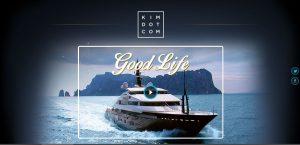 Und so sieht Kims aktuelle Website aus...
