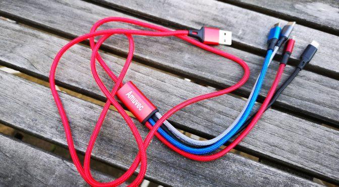 Das todschicke 4-in-1-USB-Ladekabel (eigenes Foto)