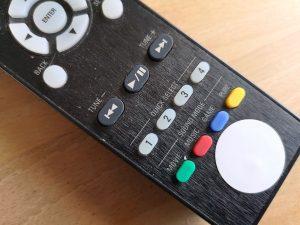 NFC-Tag auf der Fernbedienung des AV-Receivers (eigenes Foto)