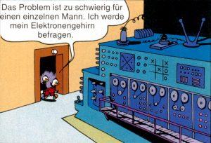 Das Duck'sche Elektronengehirn (Abb.: Dr.-Erika-Fuchs-Stiftung)