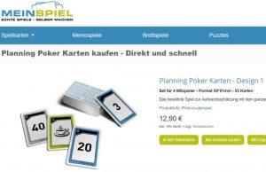 Planungspoker - eine Scrum-Methode zur Kostenabschätzung (Screenshot)