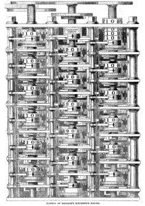 Entwurf von Babbages Differenzmaschine (public domain)