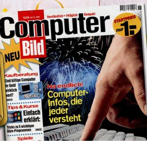 Die erste Ausgabe der Computer Bild von 1996 (Quelle: Computer Bild)