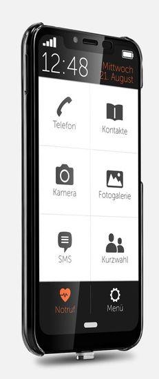 So einfach kann eine Smartphone-Oberfläche aussehen (Foto: Gigaset)