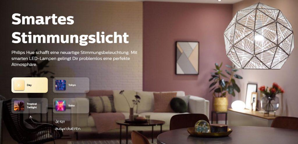 Philips Hue ist schon ganz schön weit in Sachen Smarthome (Screenshot)