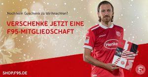 Alle bekannten Fußballclubs und viele andere Vereine machen es möglich, Mitgliedschaften zu verschenken - auch Fortuna Düsseldorf (Screenshot)
