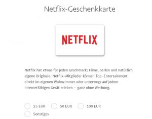 Paypal-Gifts: Eine Fundgrube für digitale Geschenke - z.B. ein Netflix-Abo (Screenshot)