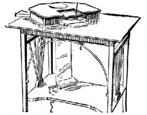 Ein sehr früher Teleautograph (Abb.: public domain via Wikimedia)