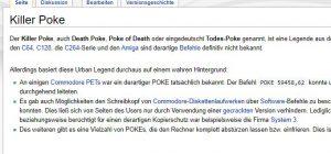 Gab es ihn doch, den Killer-Poke? (Screenshot: c64-wiki.de)