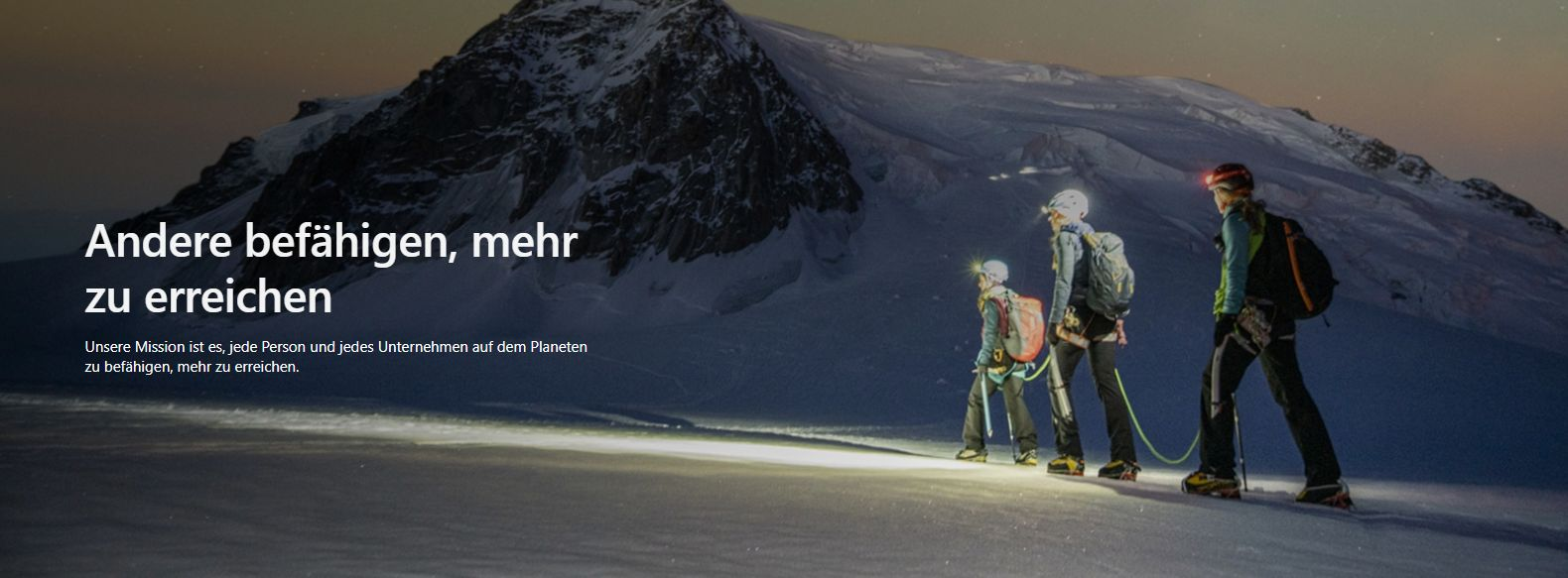 Auch Microsoft will nur unser Bestes (Screenshot: Microsoft.com)