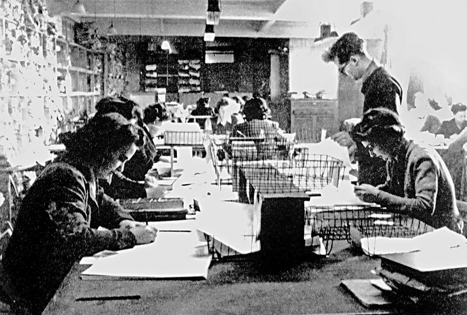 So ging's zu beim Entschlüsseln der Enigma (Foto: Bletchley Park Trust)